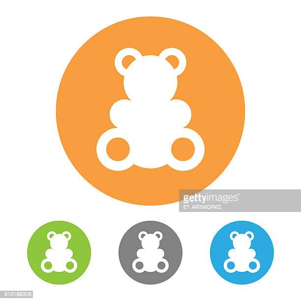 Vector toy bear icon