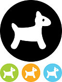 Vector toy dog icon