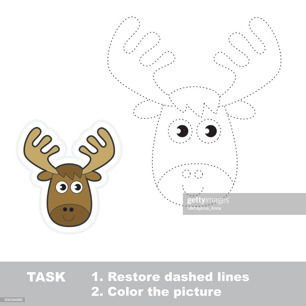 Vector trace game. Elk to be traced