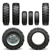 Vector Tractor Tires
