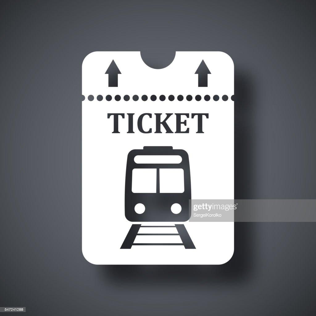 Vector train ticket icon