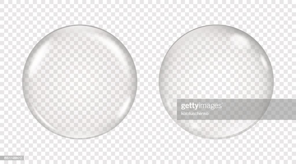 Vector transparent soap bubble