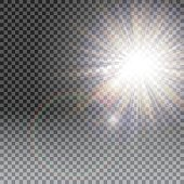 Vector transparent sunlight