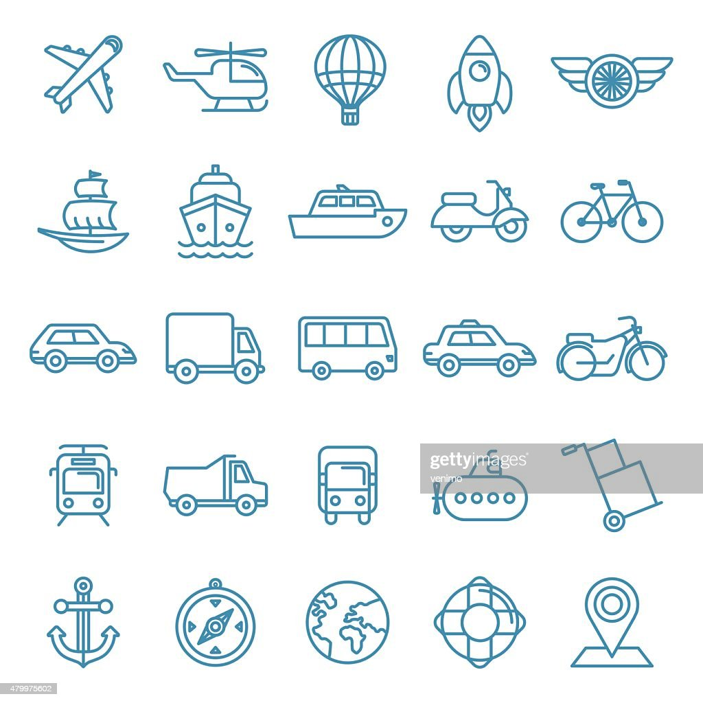 Vector transportation icons