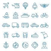 Vector transportation icons