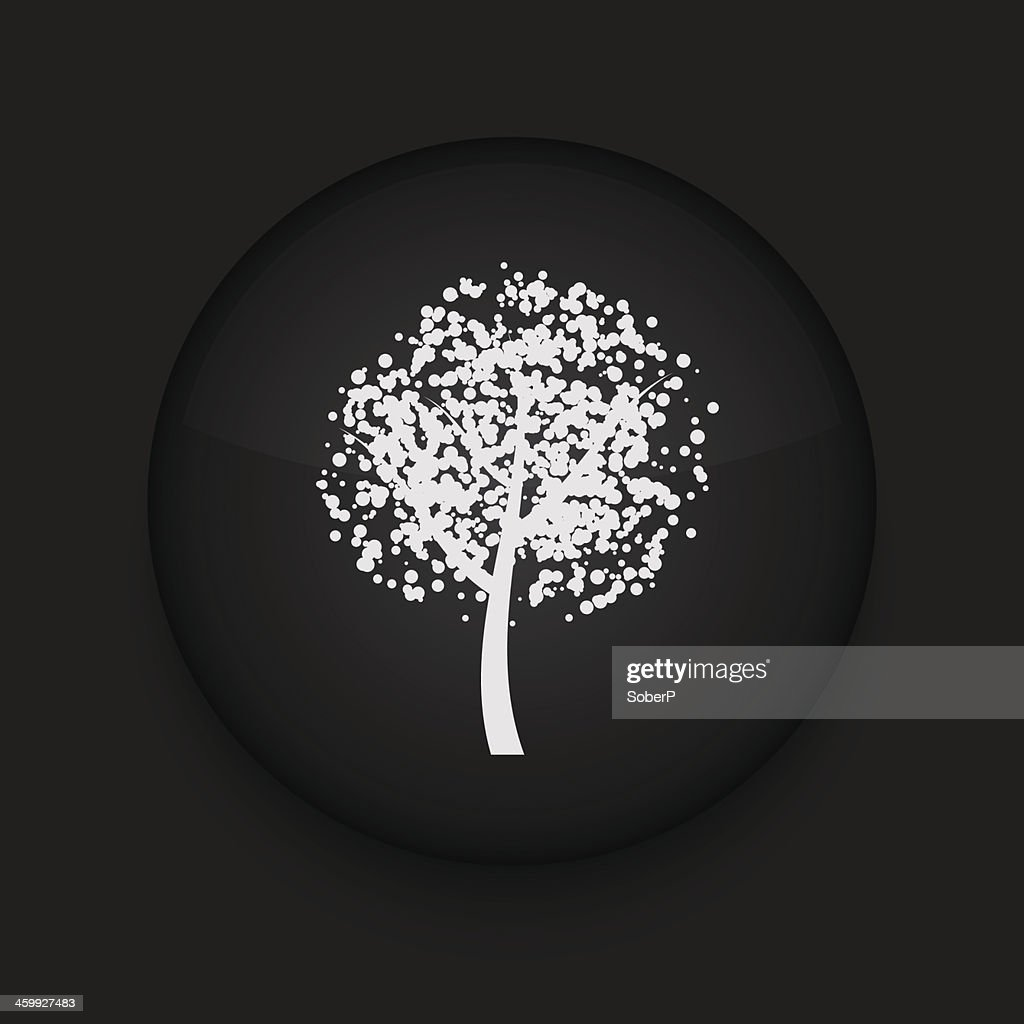 Vector tree icon. Eps10. Easy to edit