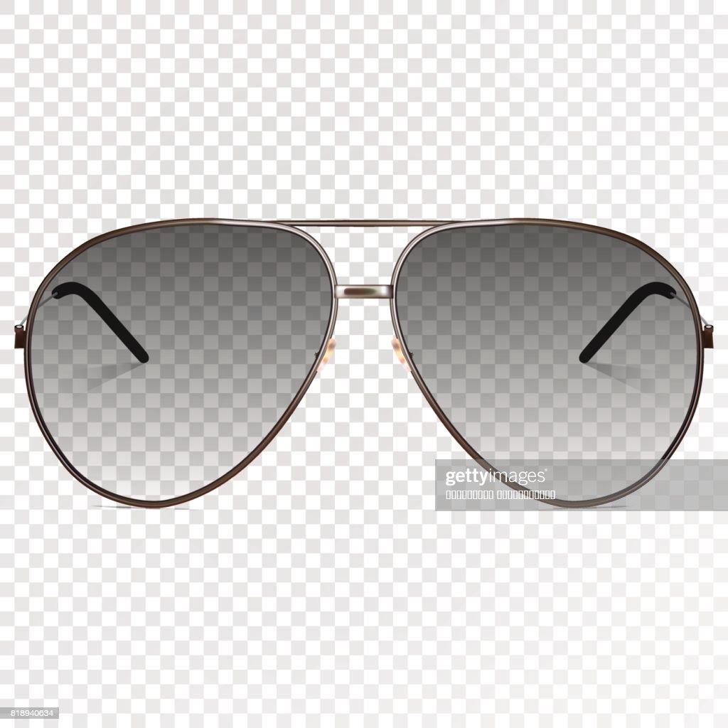 Vektor Trendige Realistische Schwarze Brillen Moderne