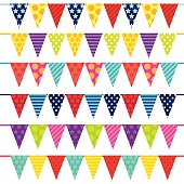 Vector triangle bunting