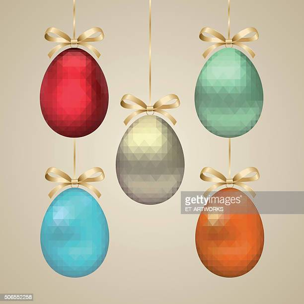 Vector triangle easter eggs