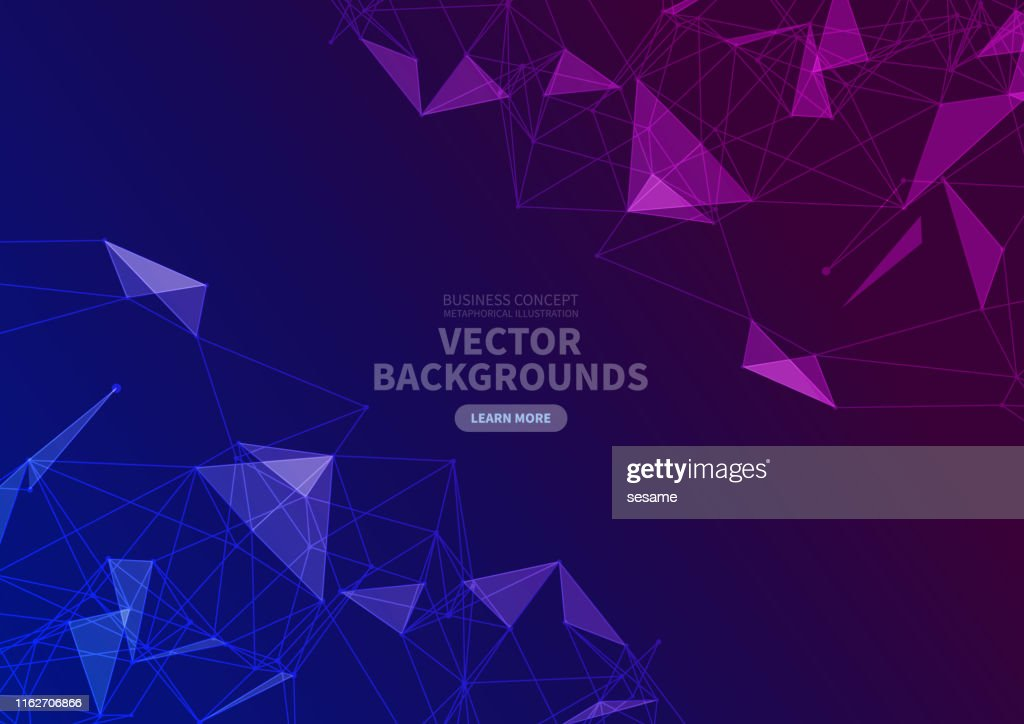 Vector triangle face background : stock illustration