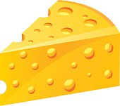 Vector Triangular piece of cheese