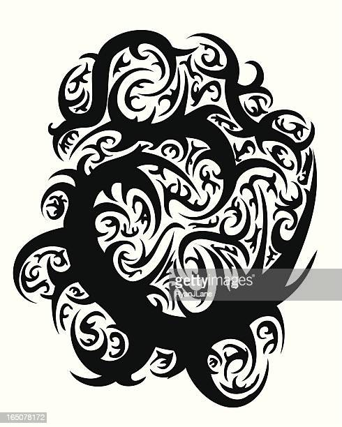 Vector Tribal Tattoo Thorn Design