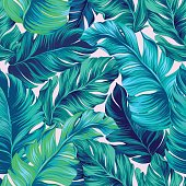 vector tropical palm seamless pattern. amazing vintage style