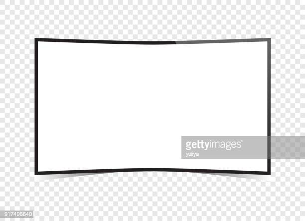 vector tv-flat-screen-curved-smart-television - television industry stock illustrations