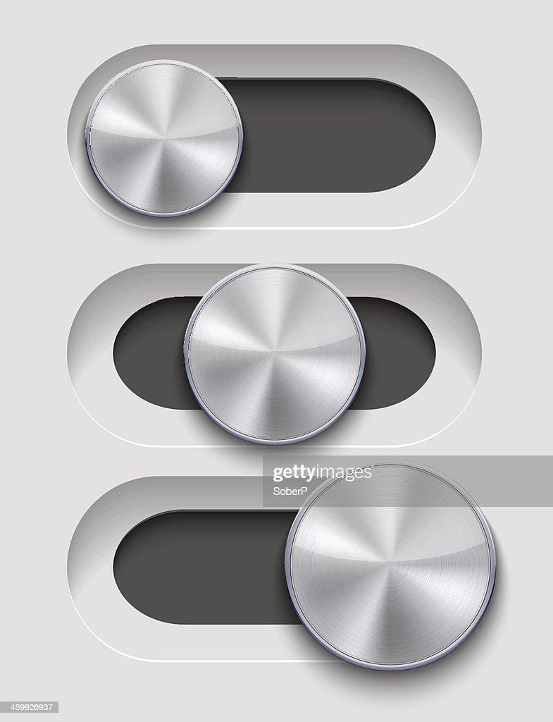 Vector ui Slider set on gray background. Eps10