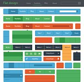 Vector UI/UX design elements