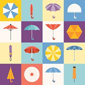 Vector umbrella icons collection