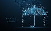 Vector umbrella rain protection.