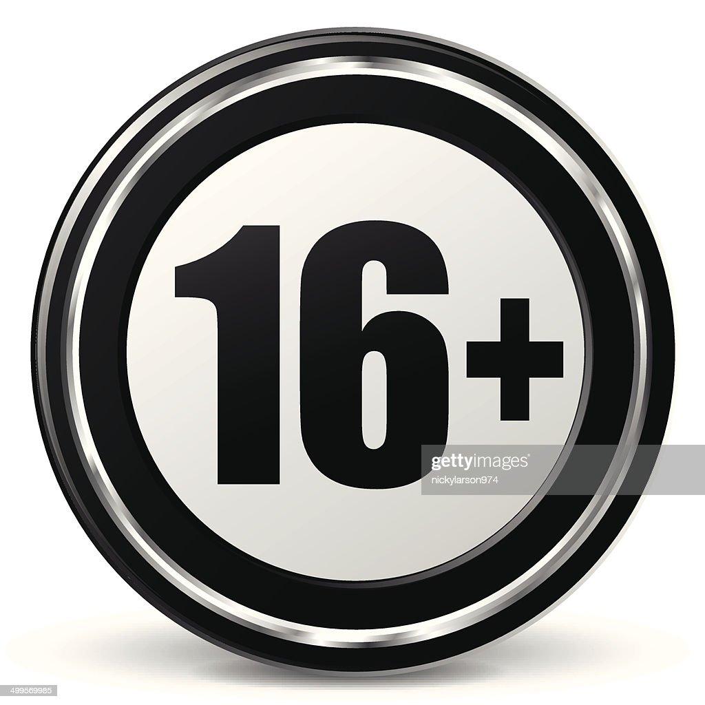 Vector under sixteen icon