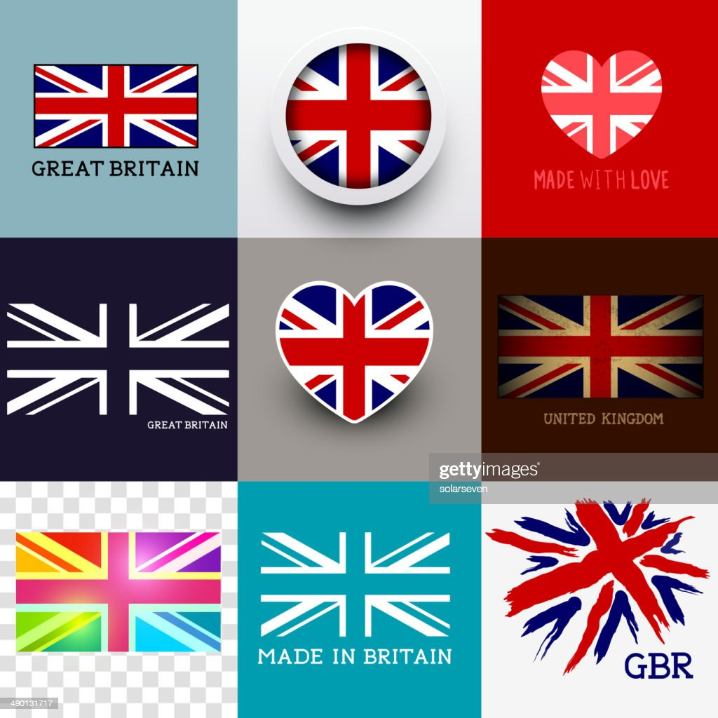 Vector Union Jack Flag Collection