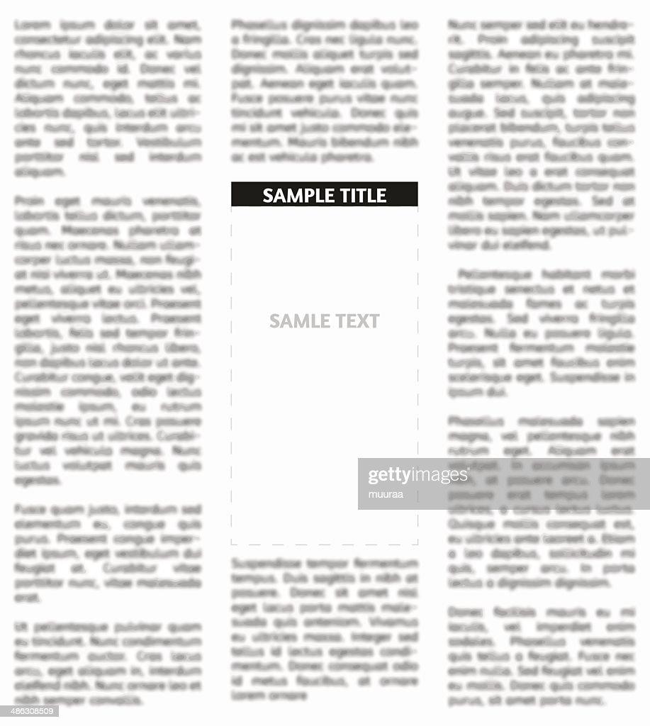 Vector unsharp newspaper