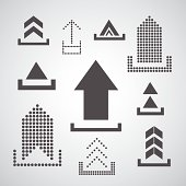 Vector upload icon