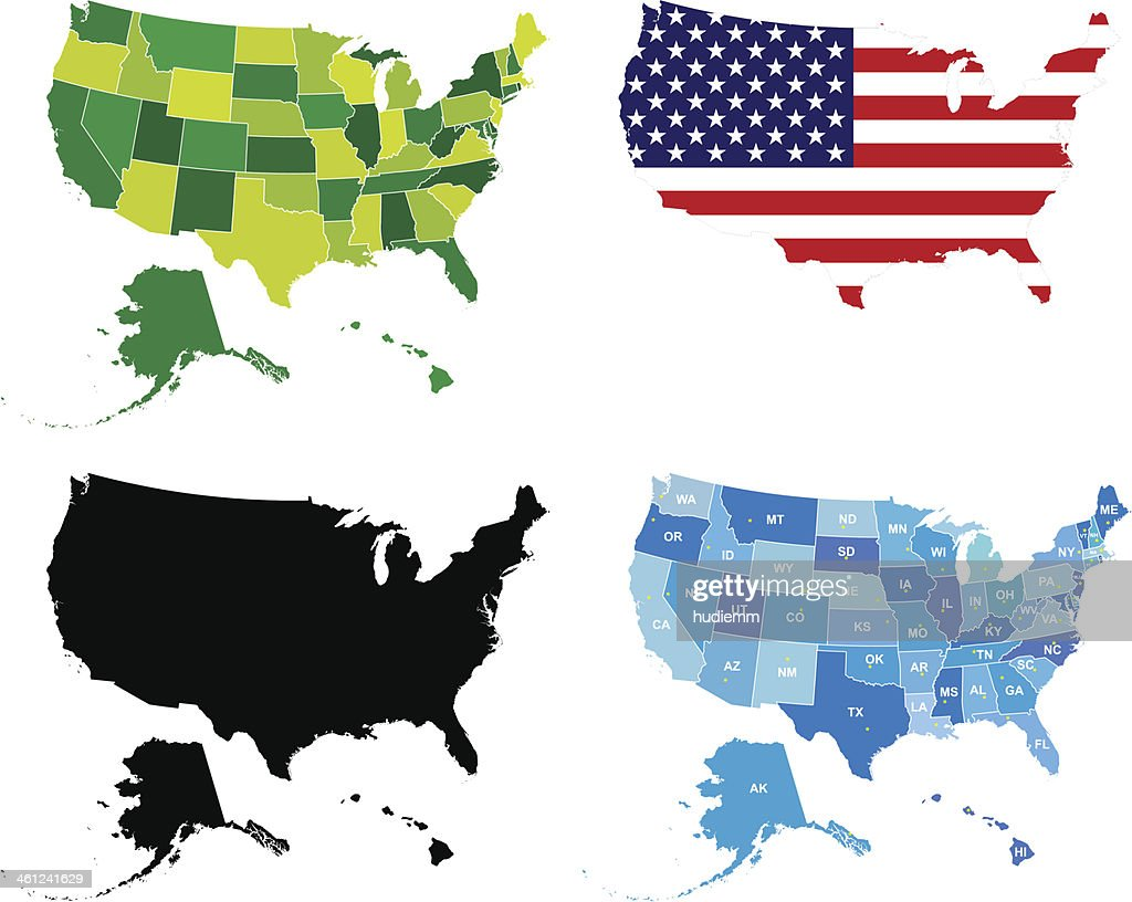 Vector USA Administrative Map