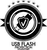 Vector usb flash protection label