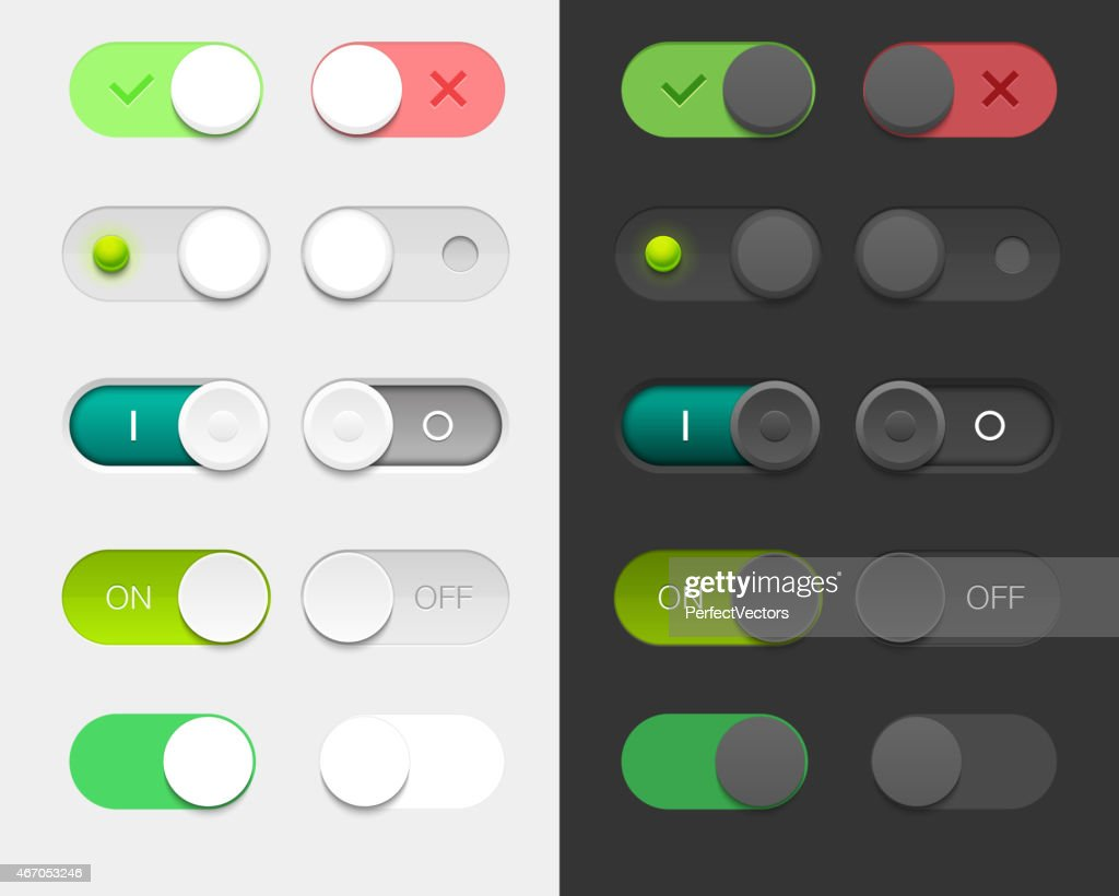 Vector User Interface Switches