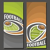 Vector vertical Banners for American Football