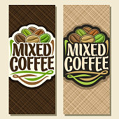 Vector vertical banners for Coffee