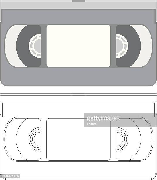 vector - vhs video tape - chard stock illustrations, clip art, cartoons, & icons