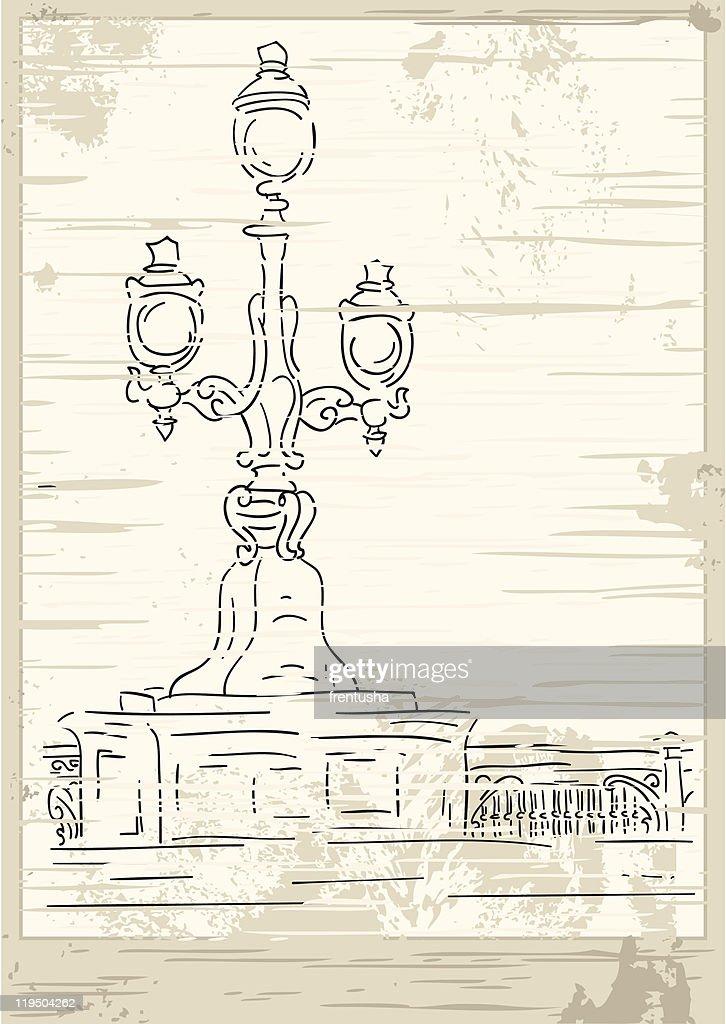 Vector victorian lantern