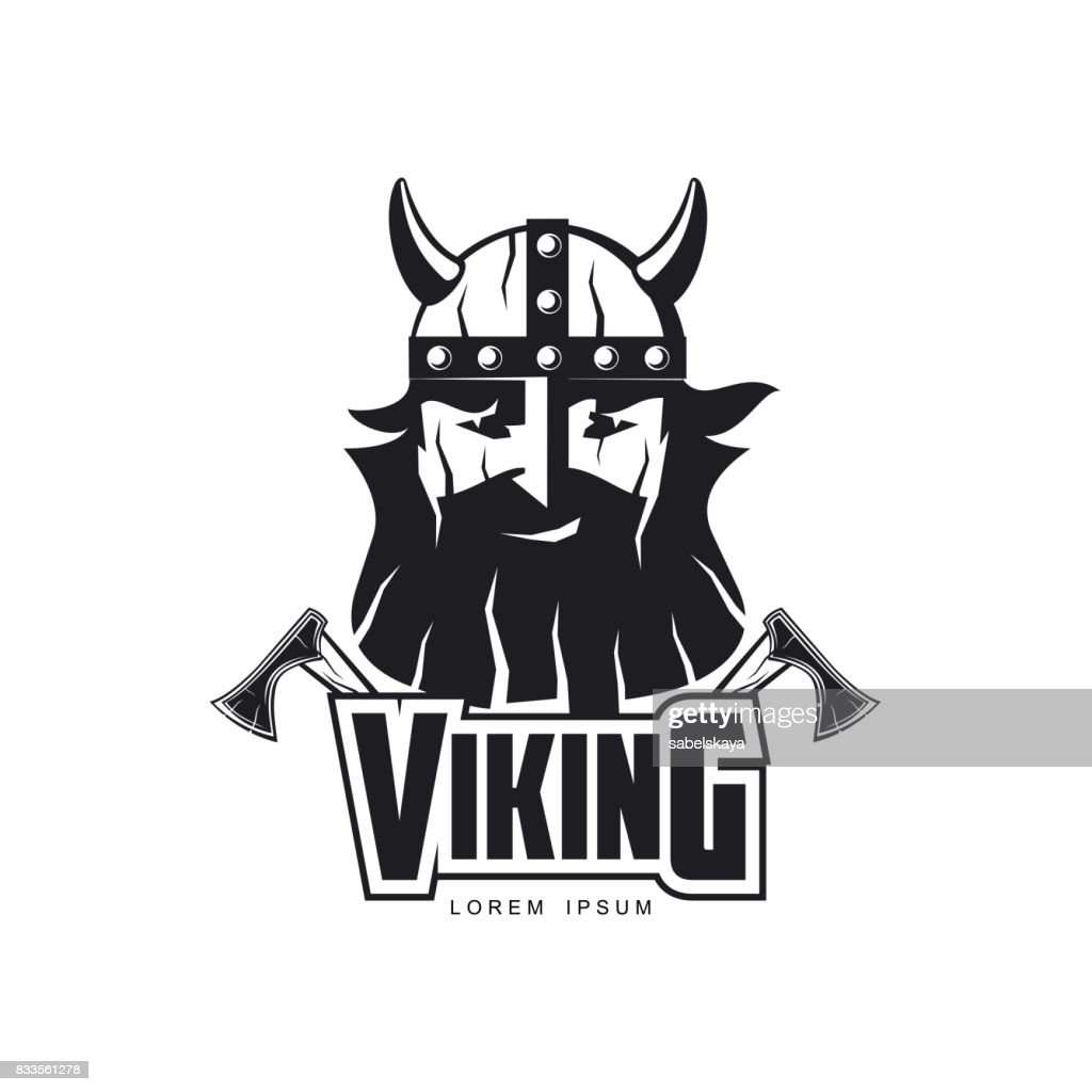 vector vikings icon symbol simple flat isolated