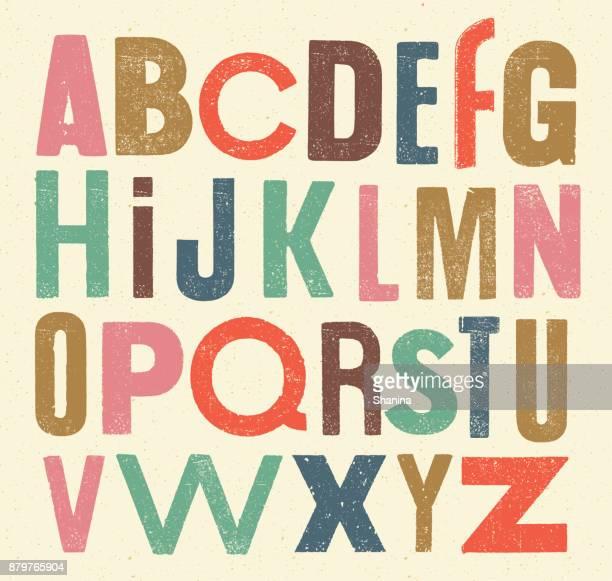 vector vintage alphabet - abc stock-grafiken, -clipart, -cartoons und -symbole