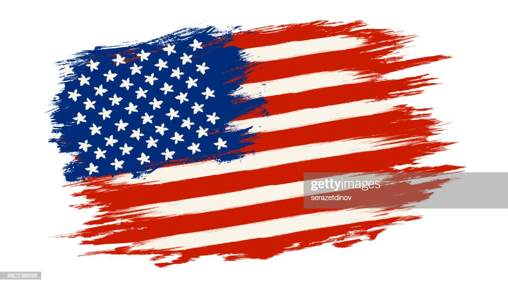 Vector vintage American flag