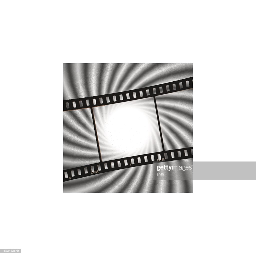 Vector: Vintage background with film flame light background