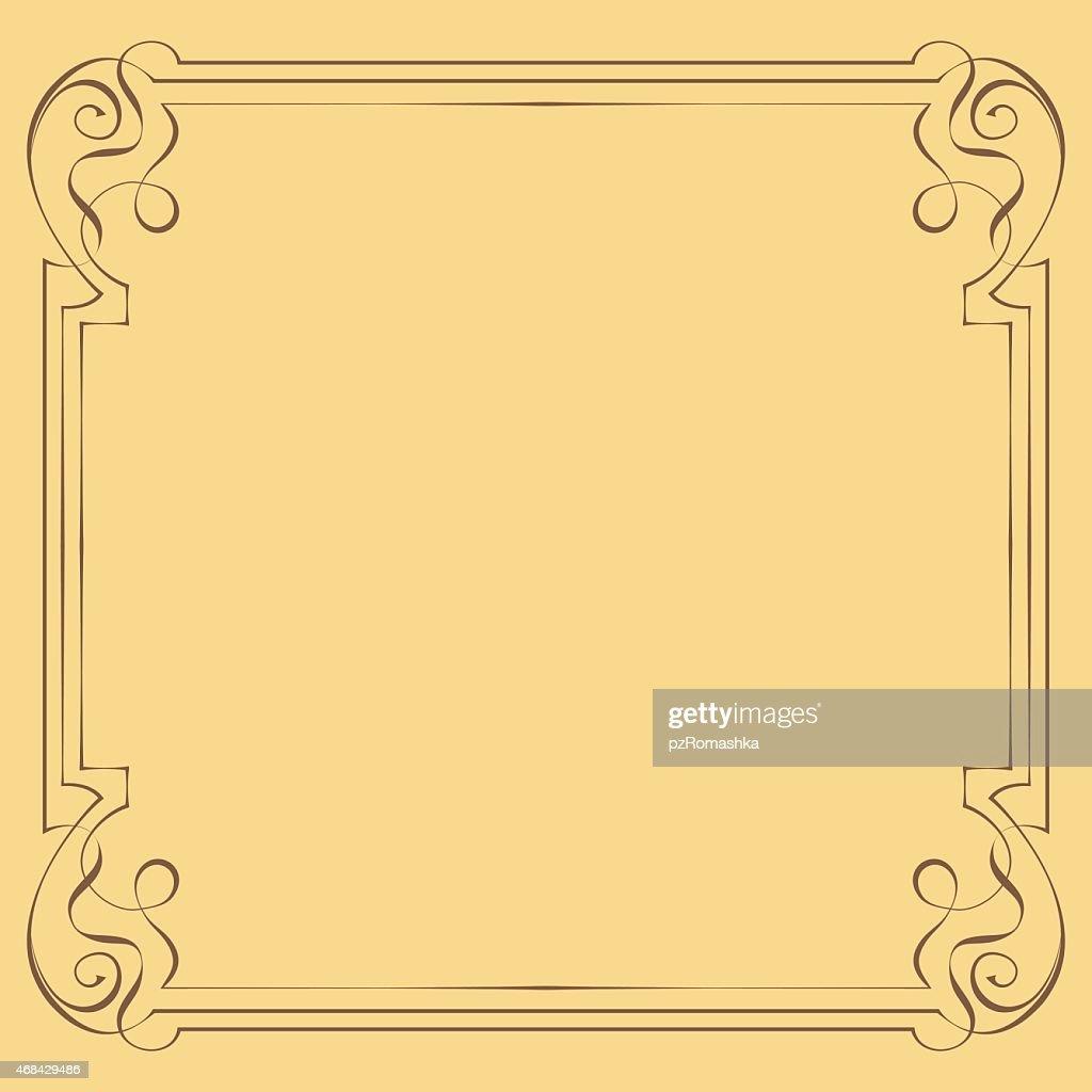 Vector. Vintage beautiful elegant frame. Element for design