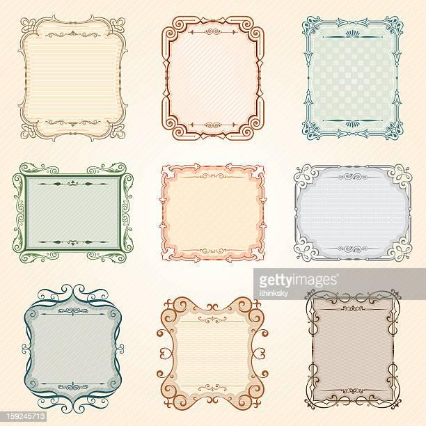 Vecteurs de vintage frame set