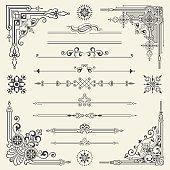 Vector vintage ornament design element