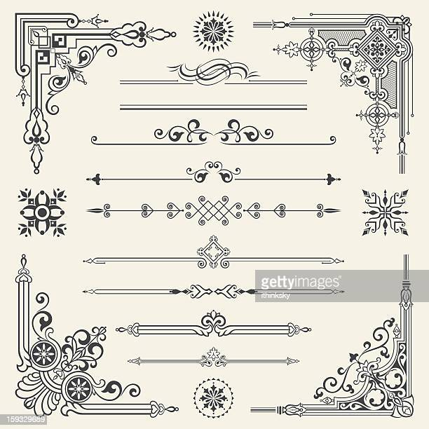vector vintage ornament design element - gothic style stock illustrations, clip art, cartoons, & icons