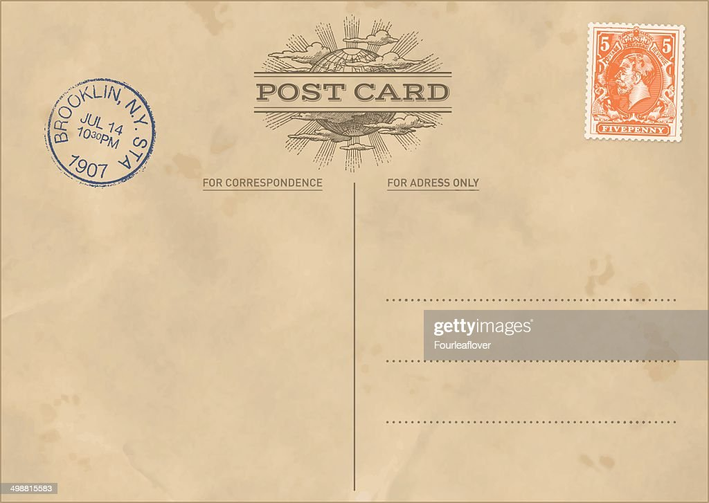 Vector Vintage Postcard Template