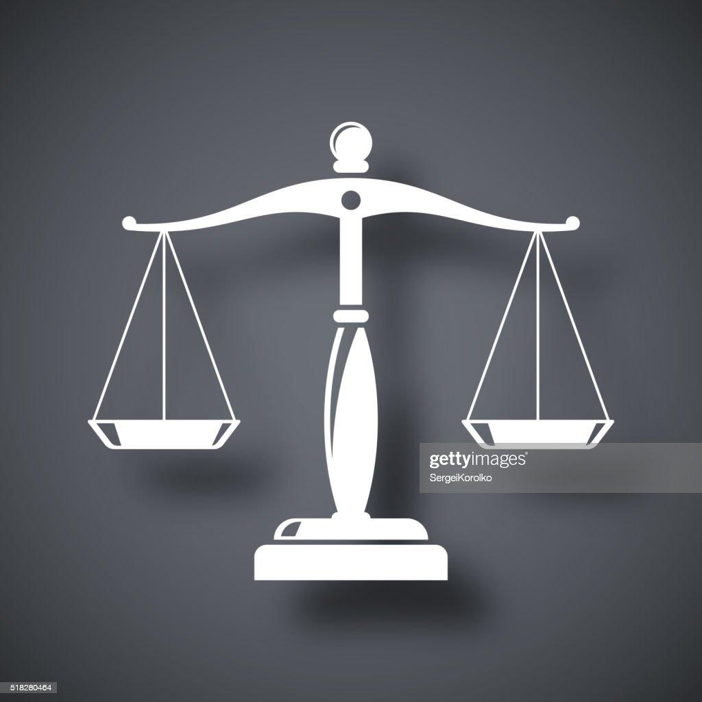 Vector vintage scales of justice icon