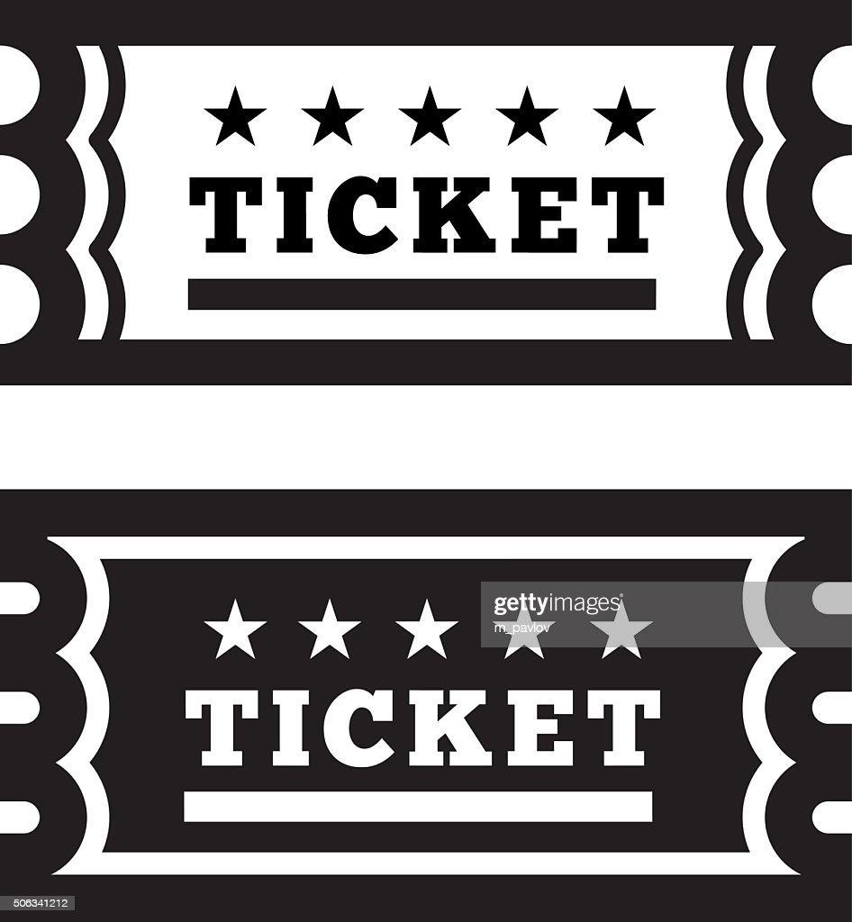 Vector Vintage Ticket Icon