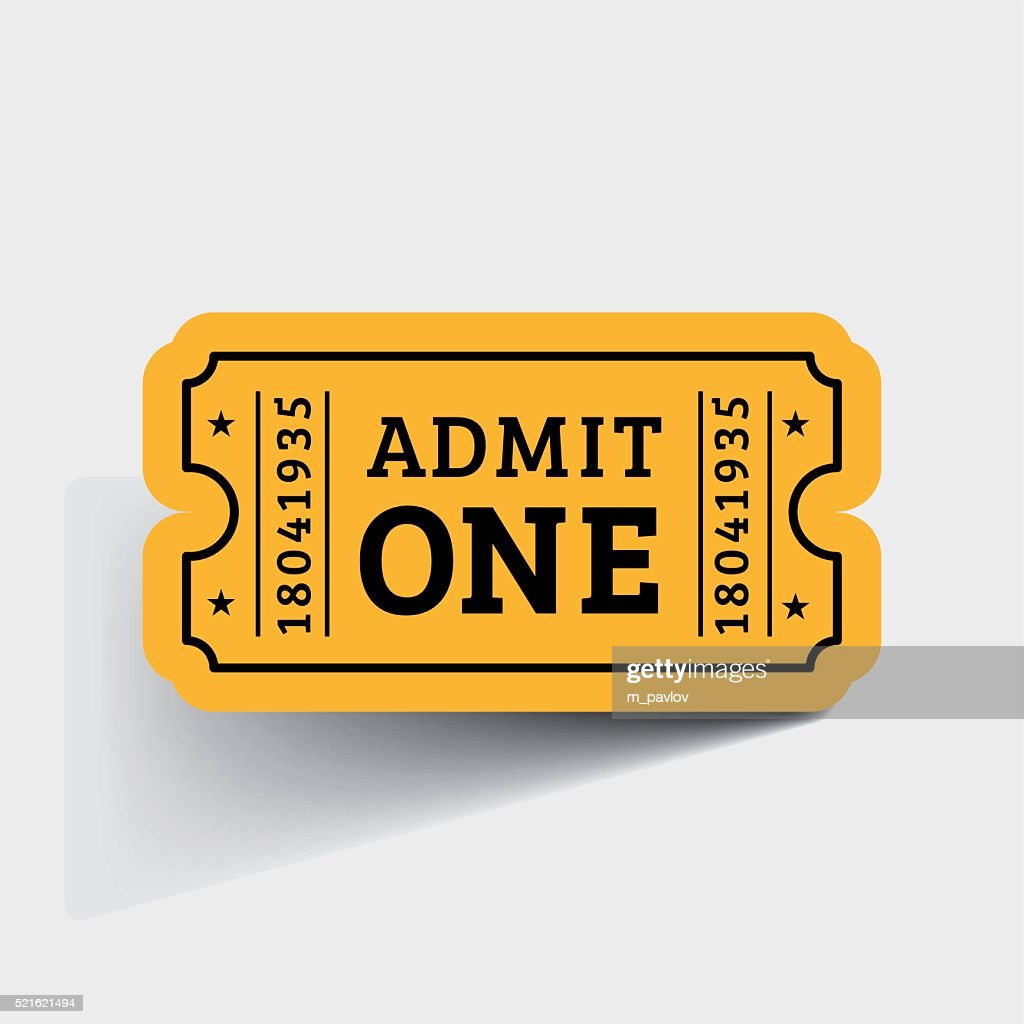Vector Vintage Ticket Icon