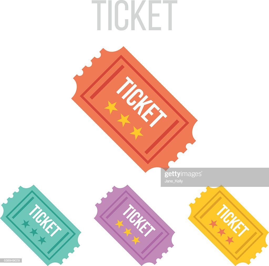 Vector vintage ticket icons