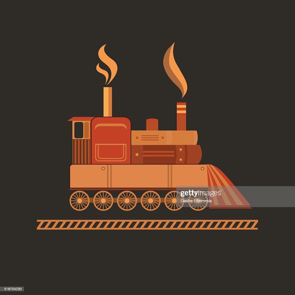 Vector vintage train