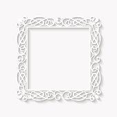 Vector vintage white frame background