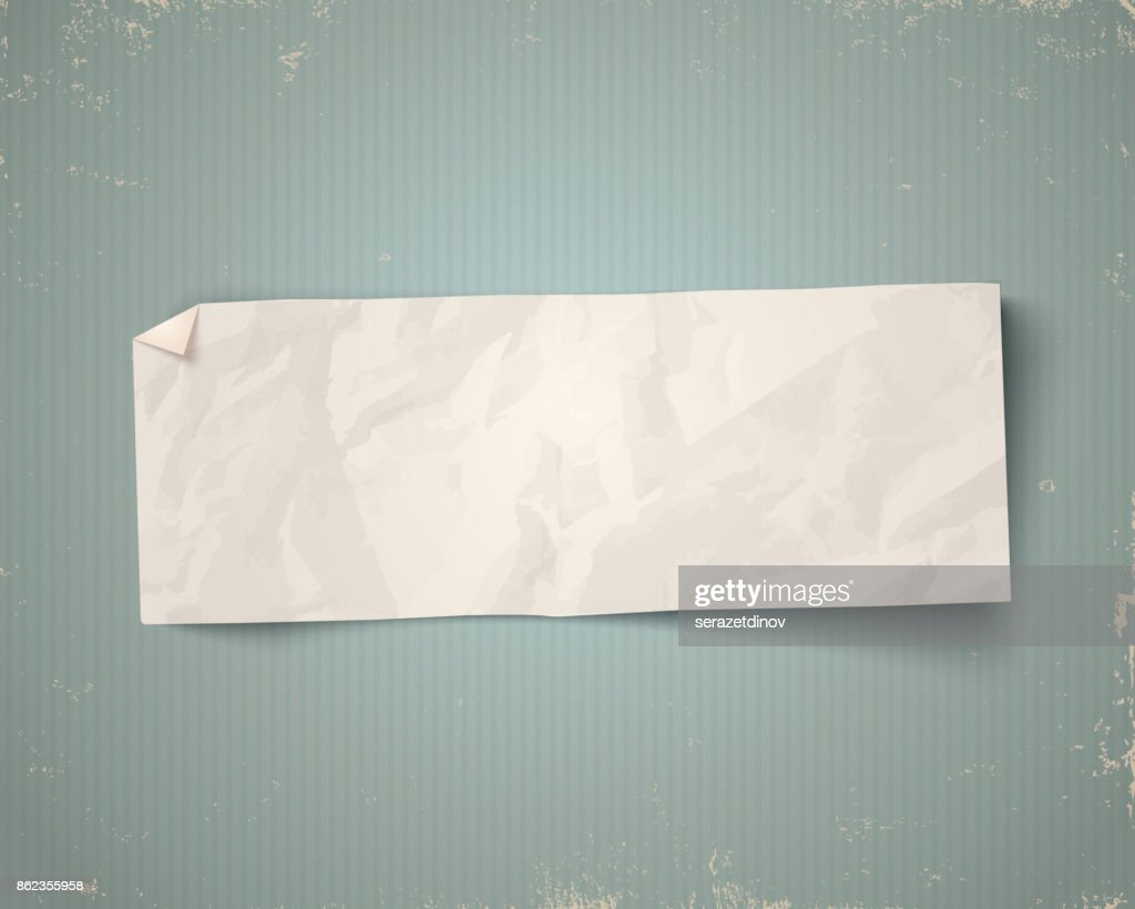 Vector vintage white paper