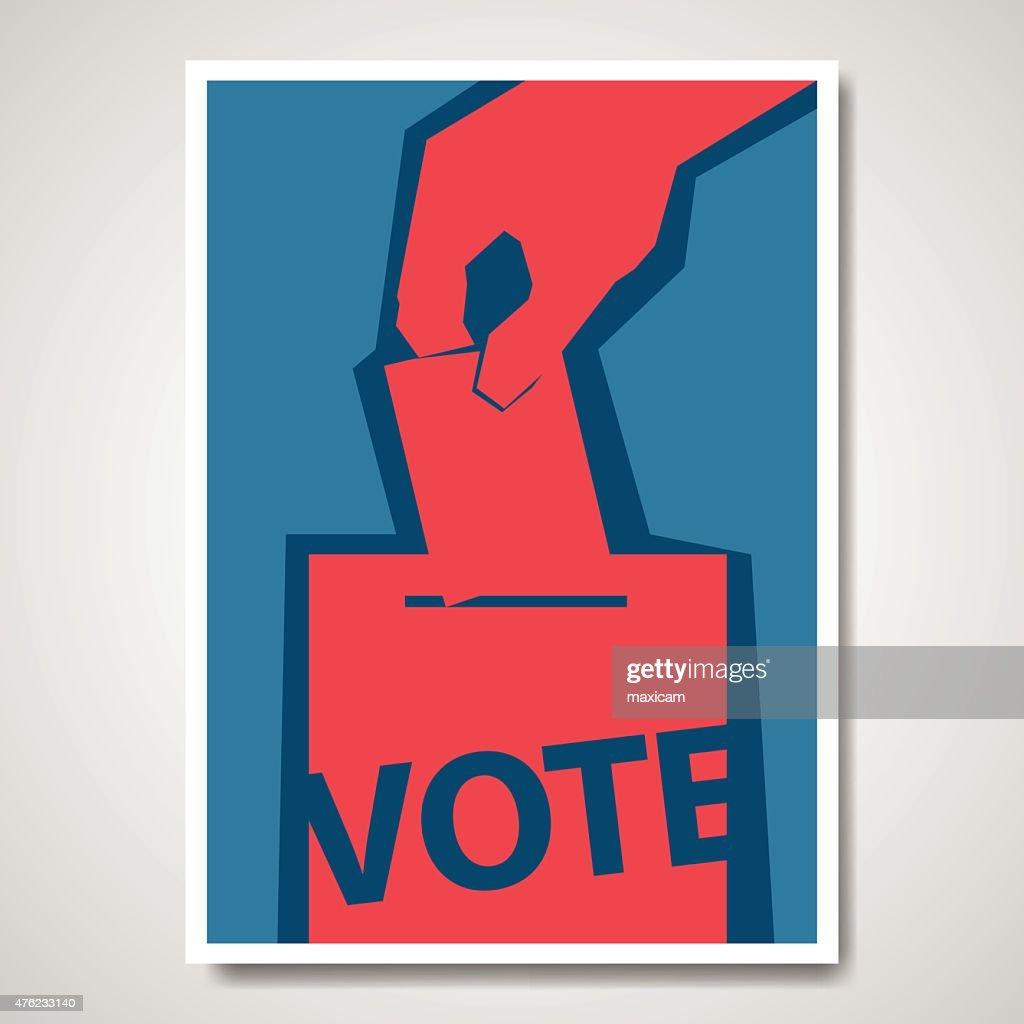 Vector vote election cover design
